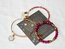 New ALEX and ANI Set of 3 Gold CRYSTAL SNOWFLAKE Holiday BRACELET w/ Card & Box