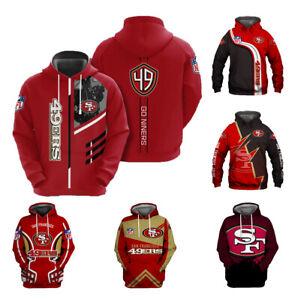 San Francisco 49ers Hoodies Football Sweatshirt Pullover Fans Casual Coat Jacket