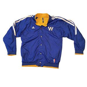 Rare Adidas NBA Golden State Warriors Reversible Jacket Blue Yellow Kids L