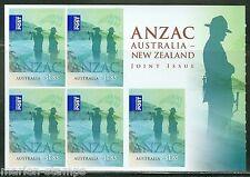 AUSTRALIA   2015 WW I ANZAC $9.25 SELF ADHESIVE BOOKLET  MINT NEVER HINGED