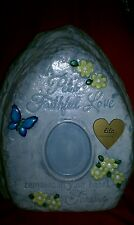 Ceramic/Pet/ Cat/dog/Urn Cremation/Memory/Rock/URN/You add your Photo..