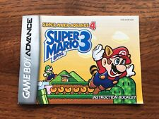 Super Mario Bros 3 Advance 4 Gameboy Advance Instruction Manual Only