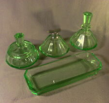 Art Deco - Frisierset, 4-teilig, grün (6)