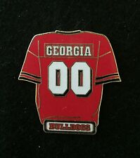 UNIVERSITY OF GEORGIA FOOTBALL JERSEY PIN -NCAA FREE SHIP BIN USA ONLY NO OFFERS