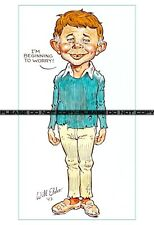 """Famous Alfred E. Newman MAD 'Beginning to Worry"""" Artwork Reprint 11""""x17"""""""