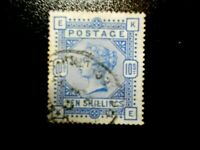 GB~1883~ QV~10/- Ultramarine Fine Used, cat £525~SG183~ uk seller