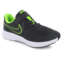 Nike Star Runner 2.0 Kid's Youth PS Gray Neon Green Running Shoes AT1801 004