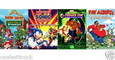 CHILDREN 4 DVD Lot/Set MOVIES SONIC ROBOTNIK+MARIO BROS+FANTASTIC 4 +FAT ALBERT