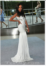 NWT Herve Leger authentic Aloissa imperfect White beaded gown dress size XS