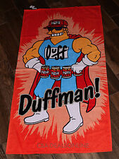NEW Universal Studios Authentic Simpsons Duffman Beer Beach Towel Pool Shower