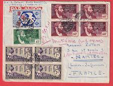 POINTE NOIRE LIBREVILLE GABON 1942 FRANCE LIBRE NANTES LETTRE COVER