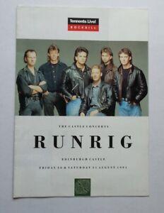 RUNRIG Edinburgh 1991 POSTER-MAGAZINE  22x16 inches
