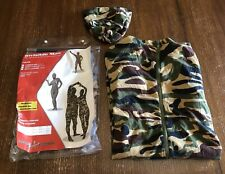 Invisible Man Halloween Costume Evolution Camoflage Camo Bodysuit M/L Unisex
