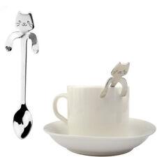 Trendy Cat Spoon Long Handle Spoons Flatware Drinking Tools Kitchen Gadgets