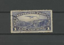 No: 75687 - HAITI - AIR MAIL - AN OLD 1 GOURDE STAMP - USED!!
