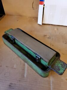 Vintage Norton Pike Oil Stones with Cast Iron holder