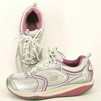 SKECHERS Shape Ups 12320 White Silver Pink Walking Toning Shoes Womens Size 10 M