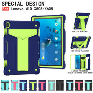 Heavy Duty Kickstand Case Cover For Lenovo Tab M10 TB-X605 TB-X505 10.1in Tablet