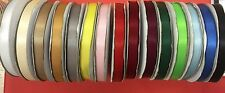 Double Satin Narrow Ribbon thin Full reel 25m 10mm Premium Quality craft 15 COL