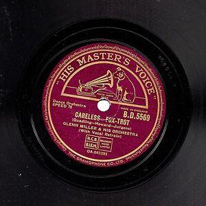 """CLASSIC 1940 GLENN MILLER 78 """" CARELESS / INDIAN SUMMER """" UK HMV  BD 5569 EX"""