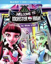 NEW! MONSTER HIGH Origin Story movie ~ Blu-ray + DVD + Digital ~ SEALED!