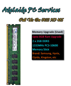 Adelaide PC Services RAM Upgrade from 4GB to 8Gb for desktop pc only