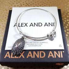 RARE Alex and Ani MOLLUSK Shell Charm Bangle Bracelet Russian Silver COLLECTOR