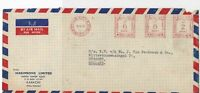 Pakistan 1959 K.R.City P.O. Cancel  Meter Mail Airmail Stamps Cover Ref 29346