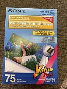 Sony SVM-75LS Print Cartridges & Photo Paper Value Pack 75 Prints