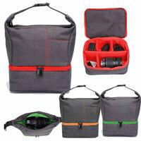 DSLR SLR Camera Bag Insert Padded Lens Case Pouch Travel Shoulder Crossbody Bag