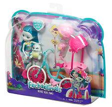 Mattel - Enchantimals, Puppe Taylee Turtle und Fahrrad, Puppe, OVP, Neu, FCC65