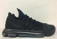 f879c6280bf1 Nike Zoom KD10 Black Dark Grey Blackout Triple Black 897815 004 Mens Size  12.5