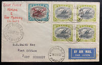 1932 Kokoda Papua New Guinea Airmail First Flight Cover FFC To Port Moresby