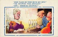 Douglas Tempest Signed What Place Ish Thish Comic Postcard