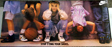 Huge Vintage Original NIKE KIDS 1988 STOP TYING YOUR SHOES Running Shoes Poster