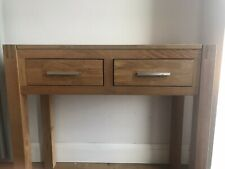 Solid Oak Console Table VGC