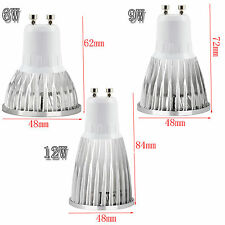 LED Spotlight Bulb Dimmable GU10/MR16/GU5.3/E27/E14 6W 9W 12W Lamp Ultra Bright