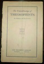 1923, 1st Edition, THE UNITED LODGE OF THEOSOPHISTS, THEOSOPHY, BLAVATSKY, JUDGE