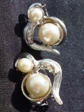 Pearl (Imitation) Glass Costume Earrings