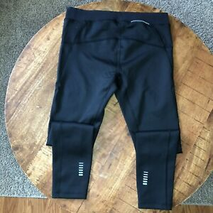 Under Amour Running Thighs Compression Cold Gear Black 1342957-001 Mens Size XL