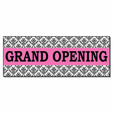 Grand Opening Pink Business Advertisement 2 Ft X 4 Ft Banner Sign With4 Grommets