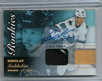 2015-16 Fleer showcase Hockey Nikolay Goldobin 3 CLR rookie autograph patch /65