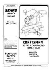 Craftsman 113.235300 Miter Saw Owners Instruction Manual