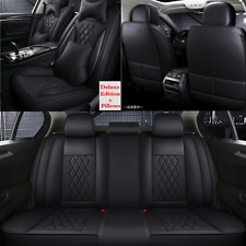 5 Seats Universal Car Seat Cover Luxury Leather Seat Cushion Front&Rear Full Set
