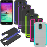 Slim Hybrid Hard Armor Case Shockproof Phone Cover For LG Stylo 3/Stylo 3 Plus