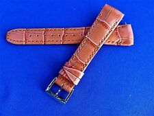 Original OEM RAYMOND WEIL ORANGE LEATHER Watch Strap 18MM & BUCKLE