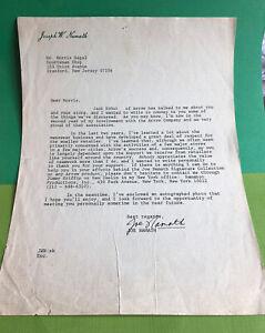 Joe Namath Signed Vintage Letterhead - New York Jets — 1970'S  ??