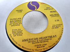 Duncan Browne 45 American Heartbeat Sire Promo 49157 Streets of Fire 1979