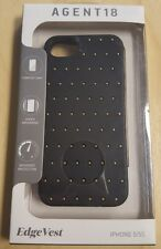 AGENT18 iPhone 5 5S SE Edgevest Black With Gold Studs Case Cover Fitted 9E