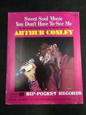 Arthur Conley Sweet Soul Music Vintage Hip-Pocket Record Philco Unopened